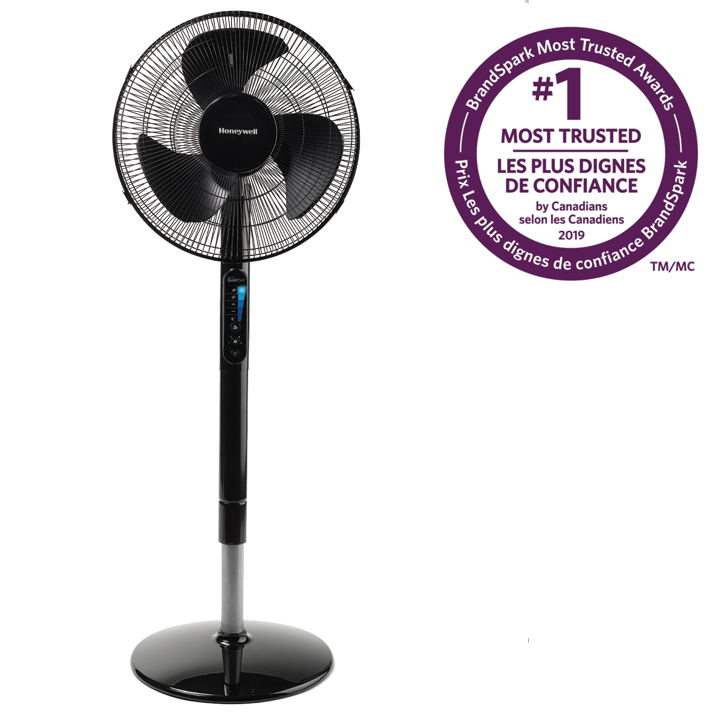 "Honeywell HSF600BC Advanced QuietSet® 16"" Stand Fan with Noise Reduction Technology"