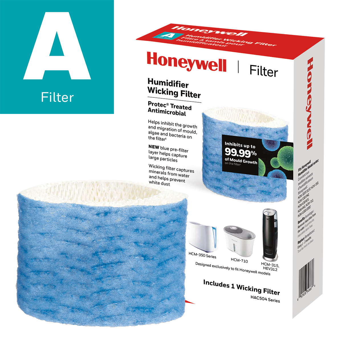Honeywell HAC504PFC Replacement Wicking Humidifier Filter, Filter A