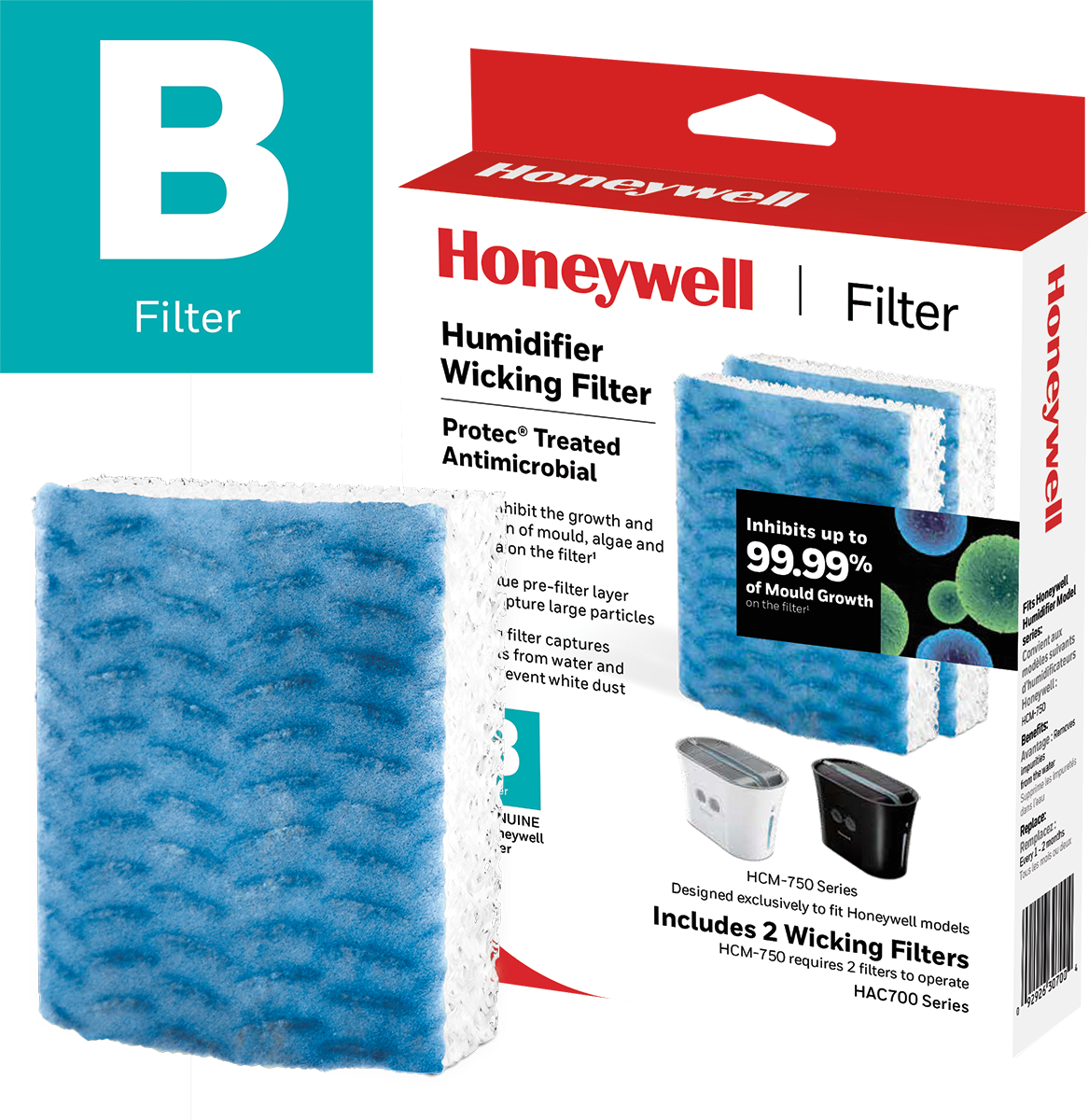 Honeywell HAC700PFC Replacement Wicking Humidifier Filter, Filter B