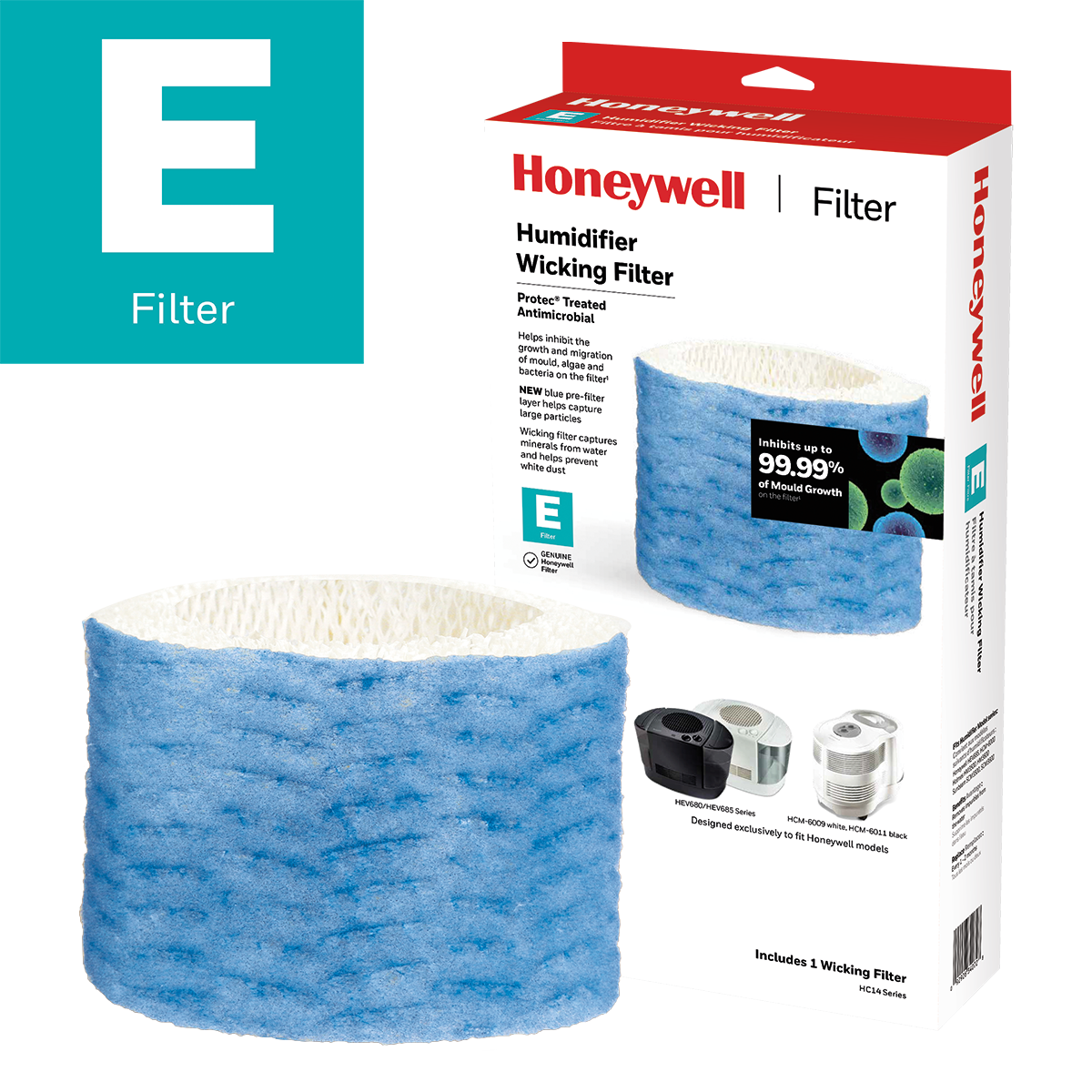 Honeywell HC14PFC Replacement Wicking Humidifier Filter, Filter E